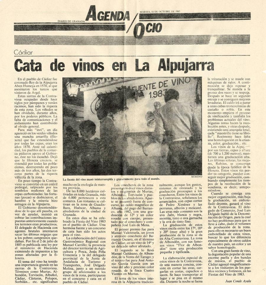 Cata de vinos en La Alpujarra | Diario de Granada
