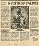 Gastronomía Andaluza: Nuestros Caldos (Ideal, 17/12/1983)
