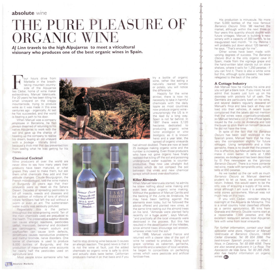 The Pure Pleasure Of Organic Wine | Absolute Marbella