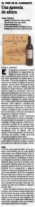 Una apuesta de altura (El Mundo, 27/09/2003)