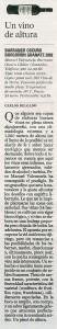 Un vino de altura Borgoñon Granate 2002 (El Pais - El Viajero, 11/10/2003)