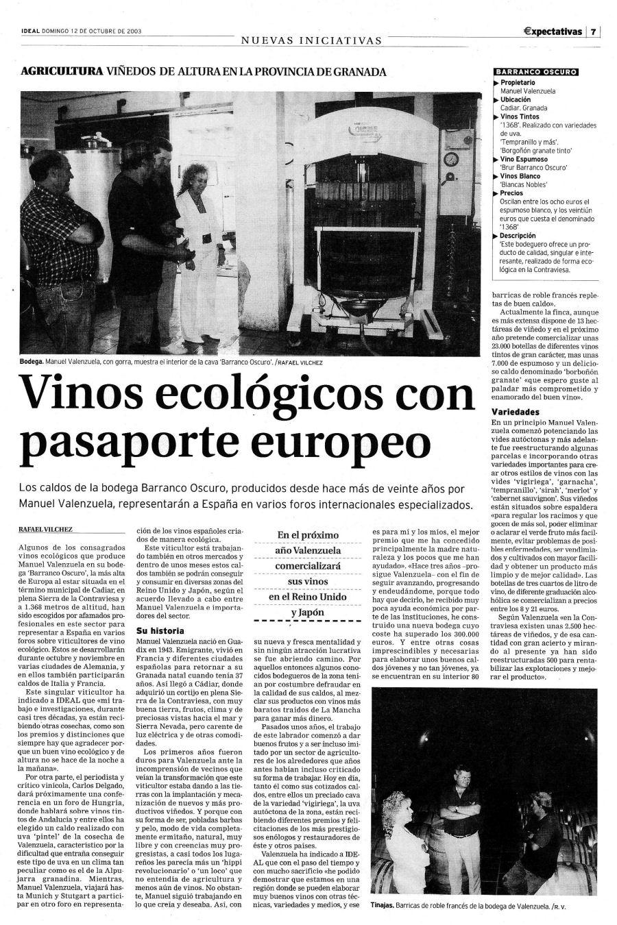 Vinos ecológicos con pasaporte europeo | Ideal