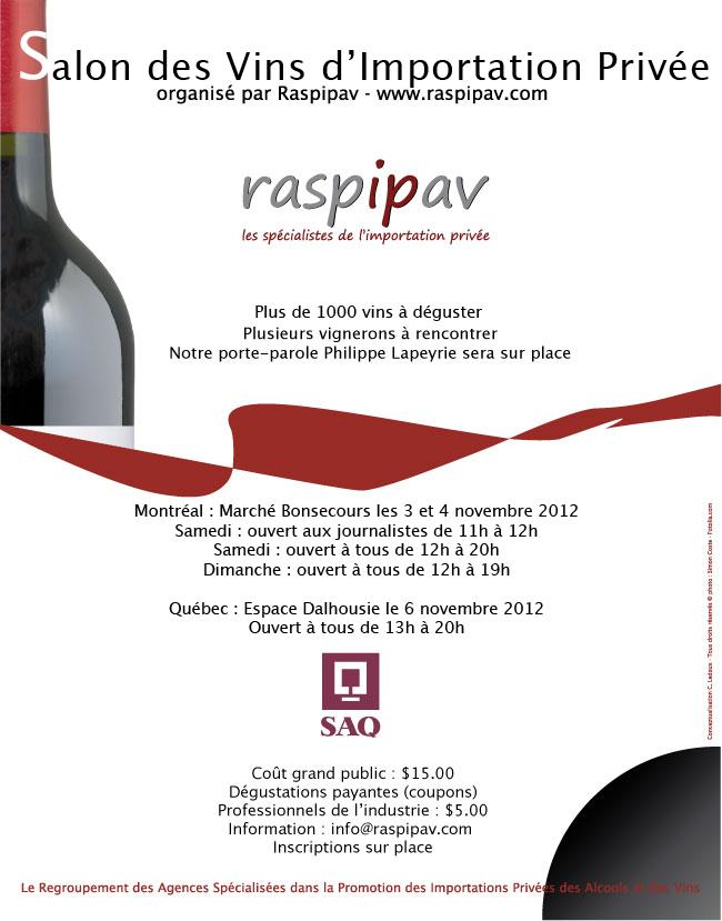 Salon des vins d'importation privée QUEBEC 2012