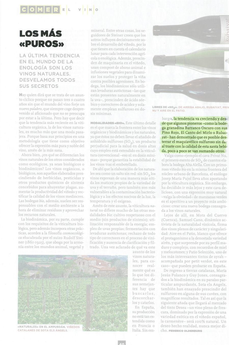 Los más puros (Metrópoli El Mundo, 28/06/2013)