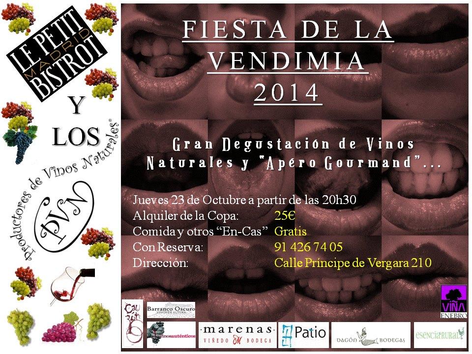 Fiesta de la Vendimia 2014 Petit Bistrot Madrid